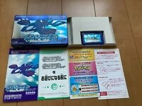 GameBoy Advance Pokemon Sapphire GBA BOX and Manual