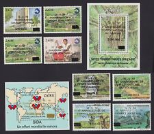 Congo ZAIRE 1992 - Rare INFLA stamps set MNH Private Overprinted Issues....A4405