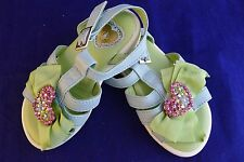 New I Pinco Pallino blue and green leather sandals size EU 23, UK 6