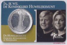 Nederland 10 Euro 2002,Koninklijke huwelijksmunt in coincard ,zeer schaars