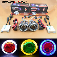 3.0 Motorcycle Headlight HID Bi-xenon Projector Lens Angel Halo Devil Eyes 6000K