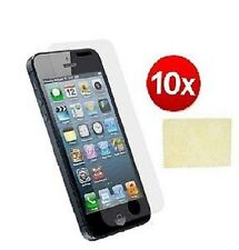 5 X Clear Front & 5 Back Screen Protectors Cover Film for iPhone 5 5G 5s & Cloth
