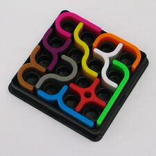 IQ Link Jigsaw Puzzle Crazy Curves Maze Game Educational Fancy Toys gift Rainbow