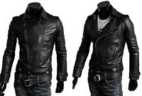 ★PELLE 100%★ Chiodo Giacca Giubbotto in di Pelle Uomo Men Leather Jacket md7p  N