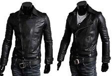 Leder 100% Nagel Jacke aus Haut Mann Männer Leder Jacke md7p N