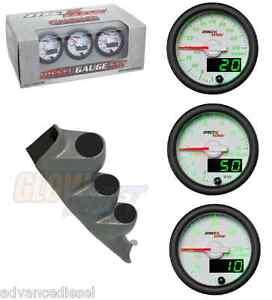 00-06 Chevy Duramax GSMaxTow White Diesel Set- Boost,Pyro,Fuel Press& Gray Pod