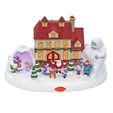 Rudolph The Red Nosed Reindeer Illuminated & Musical Village Christmas Decor new