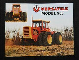 """1977 VERSATILE """"MODEL 500 192hp TRACTOR"""" SPECIFICATIONS SALES BROCHURE NICE"""