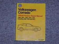 1992 VW Volkswagen Corrado Factory Shop Workshop Service Repair Manual VR6 SLC