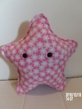 Pink Star Pillow Pastel Two Tone Flower Fabric, safety eyes handmade new