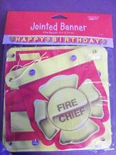 1 Firefighter Fire Engine Jointed Banner Fireman, Fire Truck Chief