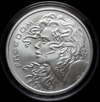 2018 Silver Shield 1 oz. FREEDOM GIRL BU Silver Round in Capsule! .999 Pure AG!!