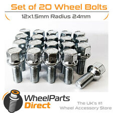 Alloy Wheel Bolts (20) 12x1.5 Radius 24mm For VW Jetta [Mk2] 84-91