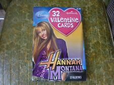 Hanna Montana DISNEY Miley Cyrus HALLMARK VALENTINES DAY CARD Lot Of 32 W/ Box !