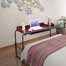 Home Office Adjustable Mobile Over Bed Table Computer Desk Laptop Cart Hospital