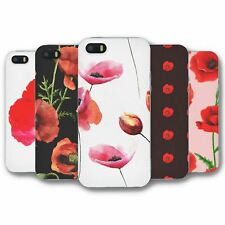 For iPhone 5 5S Silicone Case Cover Poppy Collection 1