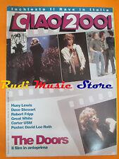 rivista CIAO 2001 17/1991 POSTER David Lee Roth Doors Dave Stewart R.Fripp No cd