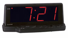 Reloj despertador digital con repetición de alarma 12 HR Pantalla LED Rojo Grande Lloytron preludio