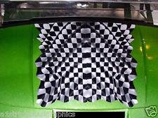 "Golf Cart 19"" RACING CHECKERED FLAG Hood Graphics Decal EXGO Club Car Yamaha"