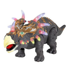 BCP 14in Kids Interactive Walking Triceratops Dinosaur RC Toy W/ Lights Sound