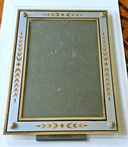 "Antique Vintage Reverse Painted 5"" X 7"" picture photo frame"
