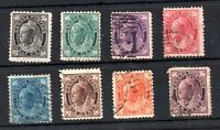 Canada QV 1897 Maple fine used set SG142-149 WS19230