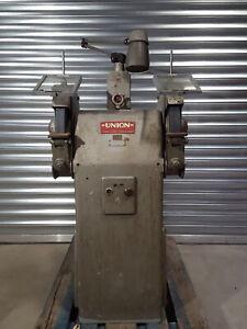 Union 1800rpm Twin Pedestal Industrial Grinder List No. SX440 3 Phase