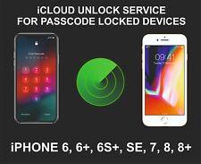 iCloud Remote Unlocking Service, Screen Locked Device, iPhone SE, 7, 7+, 8, 8+