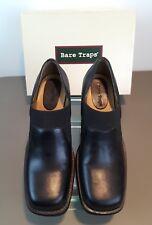 Womens Bare Traps Stirrups Elastic Black Leather Pumps Shoes- Size 9.5M