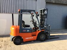 Ex Demo 2 ton Hecha Forklift, Top Spec supplied with 12 months warranty