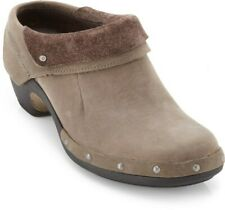 Merrell Womens Luxe Wrap Wedge Clogs Oil Nubuck Leather Slip On Shoe Brown 8.5