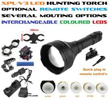 66mm Hunting Torch/Flashlight. Several Mount/Switch/LED Options, CREE XP-L LED