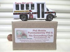 Matchbox 2013 PHIL MOBILE PUNXSUTAWNEY PHIL Chevy Transport Bus New in New Box