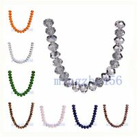 Hot !! Faceted Rondelle Crystal Glass #5040 Loose 10mm Spacer Beads 20-100pcs