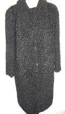 Véritable Fourrure Manteau Persane Noir Taille de Robe : 42 - 44 Fourrure Шуба