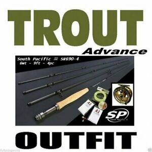 South Pacific ADVANCE TROUT Fly Fishing Outfit Combo - Machined Aluminium Reel