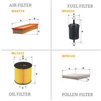 WIX AIR POLLEN OIL & FUEL Filter Service Kit WA6779,WP9142,WL7413,WF8034
