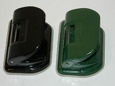 vintage LOT 2 LEITZ n°28 perforateur LOCHER perforator GREEN BLACK vert GERMANY