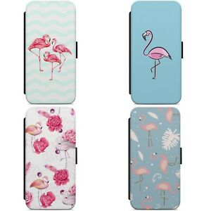 Pink Flamingo Floral Pattern FLIP WALLET PHONE CASE COVER for IPHONE SAMSUNG