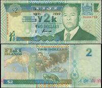 Fidji 2 Dollars. NEUF 2000 Billet de banque Cat# P.102b