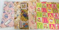 Vintage Lot of Hallmark & various Gift Wrap Baby Shower FAST FREE SHIPPING