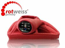 BMW E46 M3 SHIFT KNOB BOOT,6 SPEED PUNCHED STILL,MAT RED COLOR,ROTWEISS Germany