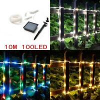 10M 100LED Solar Fairy String Light Outdoor Wedding Christmas Party Lamp Decor