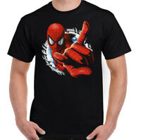 SPIDERMAN T-SHIRT, Mens Superhero Marvel Peter Parker Unisex Top Tee