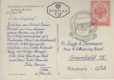 Austria 1959 First Day Cover Picture Post Card Mountains Coat Of Arms