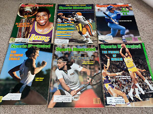 Vintage lot of 24 Sports Illustrated Magazines 1979 & 1980 - Bagged & Boarded