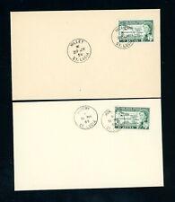 St Lucia  1958/59 Millet and Monchy Village Postmarks  (2)    (J534)