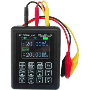 Genaue 4-20mA 0-10V Generator Signal Kalibrator Konstantstromquelle 0-20mA