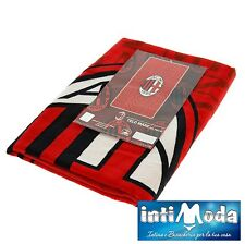 Asciugamano Ufficiale A.C. Milan Telo Mare in Spugna di Puro Cotone 70x140 cm