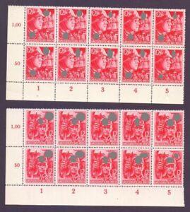 Deutsches Reich 1945 - 10 komplette Sätze MiNr 909/910 - Michel 800,00 € (242)